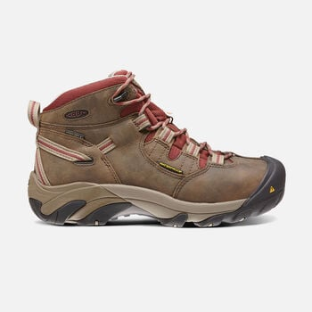 CSA OSHAWA MID (STEEL TOE) pour femme in Black Olive/Madder Brown - large view.