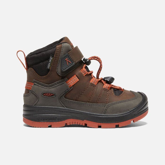 Younger Kids' Redwood Mid Waterproof Boots in Coffee Bean/Picante - large view.