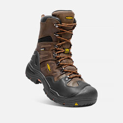 "Men's COBURG 8"" Waterproof Boot (Steel Toe) in Cascade Brown/Brindle - small view."