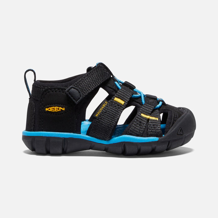 Toddlers' Seacamp II CNX in Black/KEEN Yellow - large view.