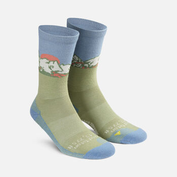 Women's Tetons Crew Sock in PROVINCIAL BLUE - large view.