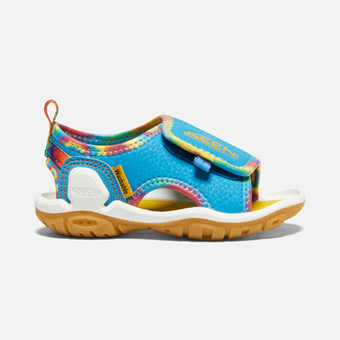 Toddlers' Knotch River Open-Toe Sandal in Tie Dye/Vivid Blue - large view.