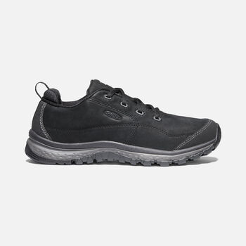 Women's Terradora Leather Trainer Shoes in BLACK/RAVEN - large view.