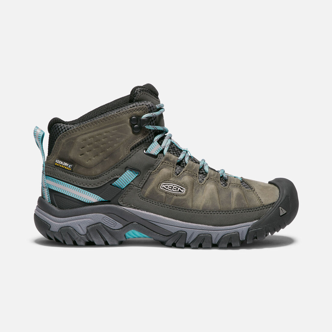 Women's TARGHEE III Waterproof Mid in Alcatraz/Blue Turquoise - large view.