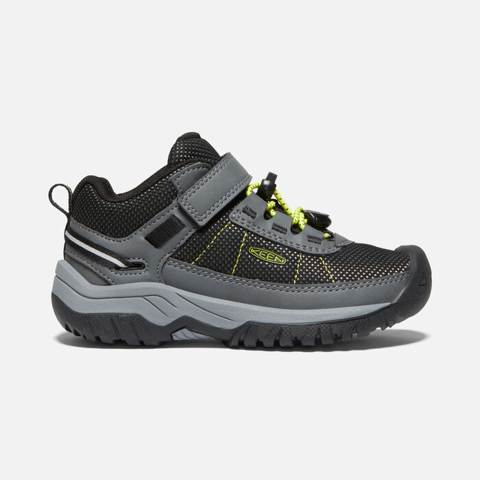 Younger Kids' Targhee Sport Vent Hiking Shoes in Steel Grey/Evening Primrose - large view.