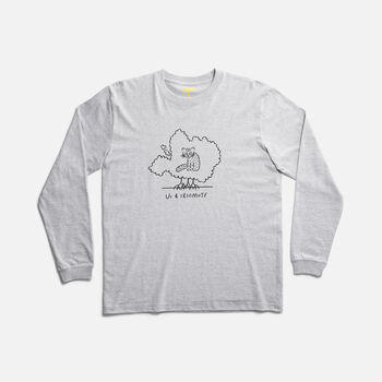 US 4 IRIOMOTE チャリティーL/S TEE 『イリオモテヤマネコ』 in Grey - large view.