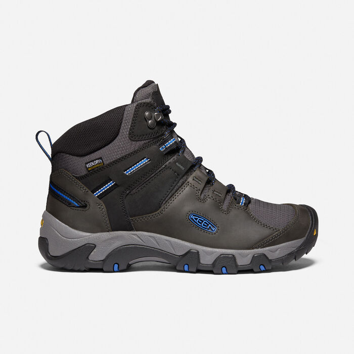 Men's Steens Leather Waterproof Boot in Magnet/Sky Diver - large view.