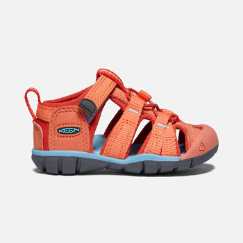 Toddlers' Seacamp II Cnx Sandals in Coral/Poppy Red - large view.
