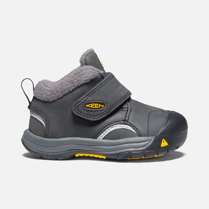Toddlers' Kootenay III Boot in Black/Keen Yellow - large view.