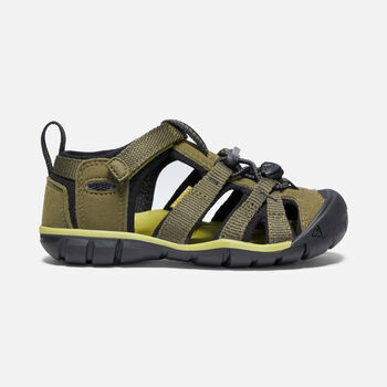 Little Kids' SEACAMP II CNX in DARK OLIVE/BLACK - large view.