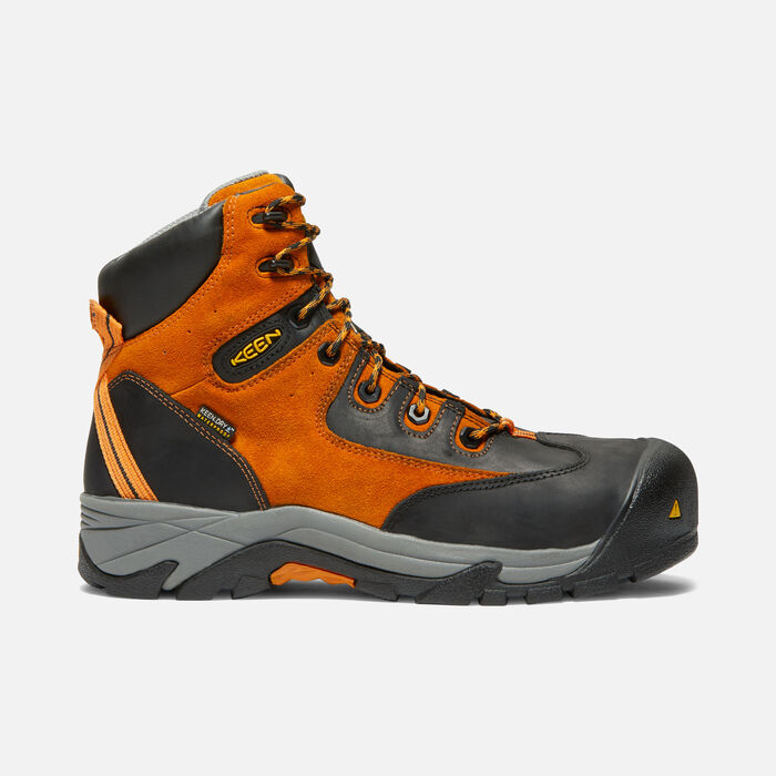 CSA Val-D'Or Waterproof Mid (Composite Toe) pour homme in Persimmon Orange/Black - large view.