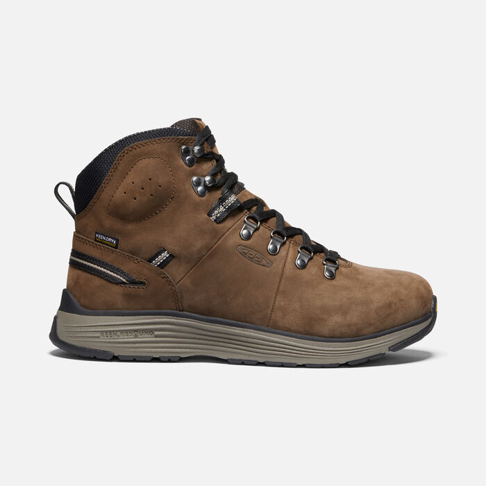 "Men's CSA Manchester 6"" Waterproof Boot (Aluminum Toe) in CASCADE BROWN/BLACK - large view."