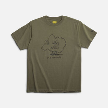 KEEN Iriomote T-Shirt Cat in OLIVE - large view.