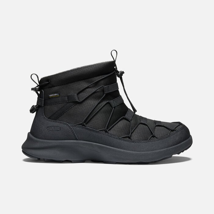 Men's UNEEK SNK Waterproof Chukka in Triple Black/Black - large view.