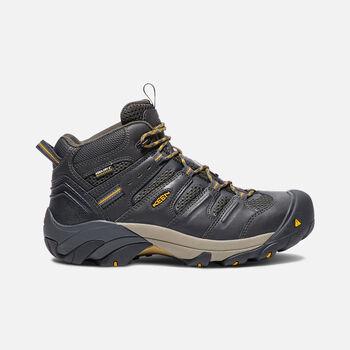 Men's CSA LANSING MID (Steel Toe) in RAVEN/TAWNY OLIVE - large view.