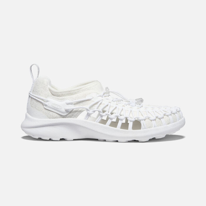 Women's Uneek SNK Shoe in White/White - large view.