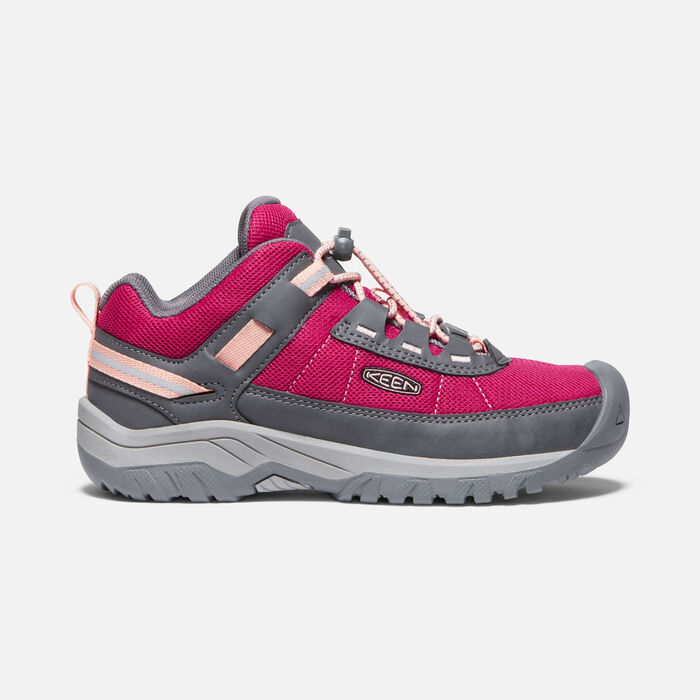 Big Kids' Targhee Sport Vent Shoe in Pink Peacock/Peach Pearl - large view.