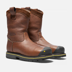 Men's Dallas Wellington (Steel Toe) in Dark Brown - small view.