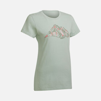 Women's FACETED MOUNTAIN TEE in SAGE - large view.