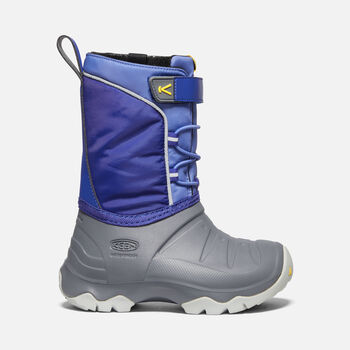 Little Kids' LUMI Waterproof Winter Boot in BRIGHT BLUE/STEEL GREY - large view.