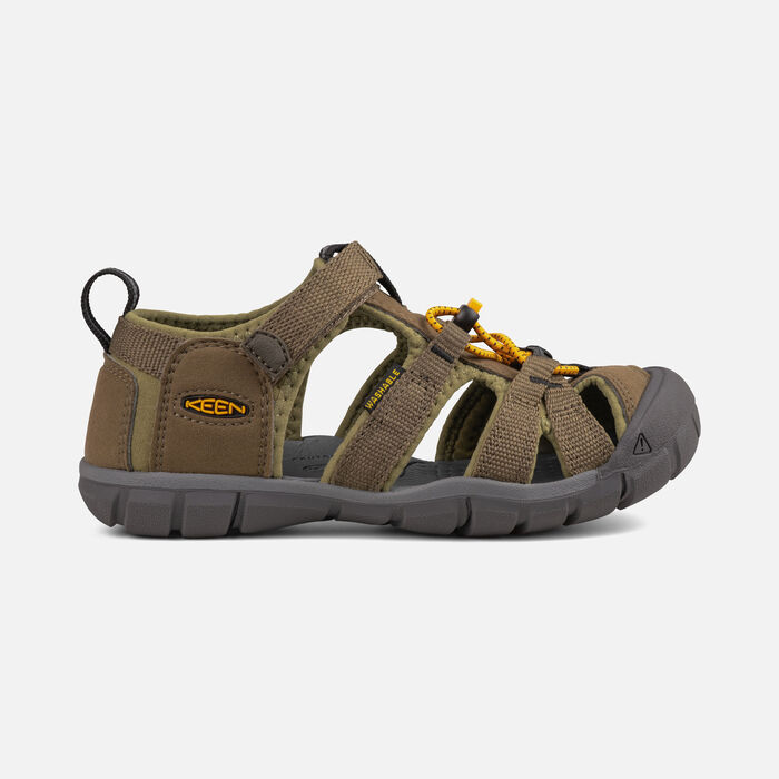 Little Kids' Seacamp II CNX in Military Olive/Saffron - large view.