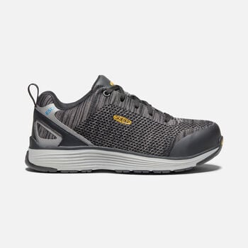 Women's Sparta ESD (Aluminum Toe) in BLACK/GREY FLANNEL - large view.