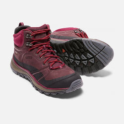Women's TERRADORA LEATHER Waterproof Mid in Wine/Rhododendron - small view.