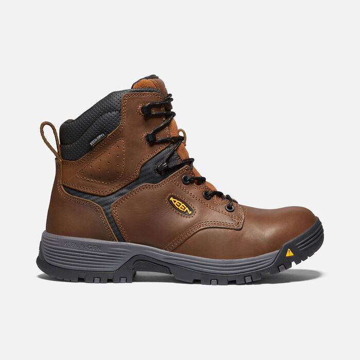 """Men's Chicago 6"""" Waterproof Boot (Soft Toe) in Tobacco/Black - large view."""