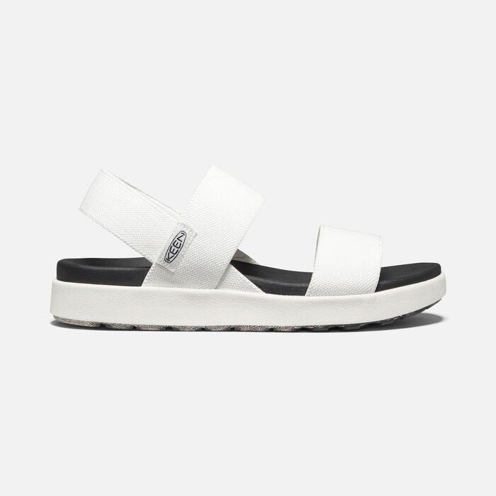 Women's Elle Backstrap Casual Sandals in White - large view.