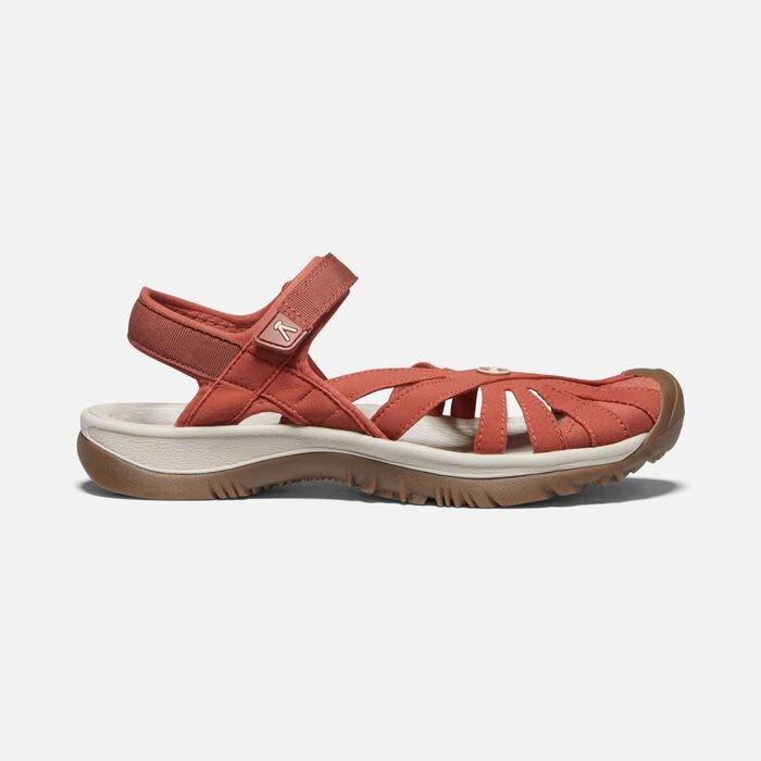 Women's Rose Sandal in Redwood - large view.