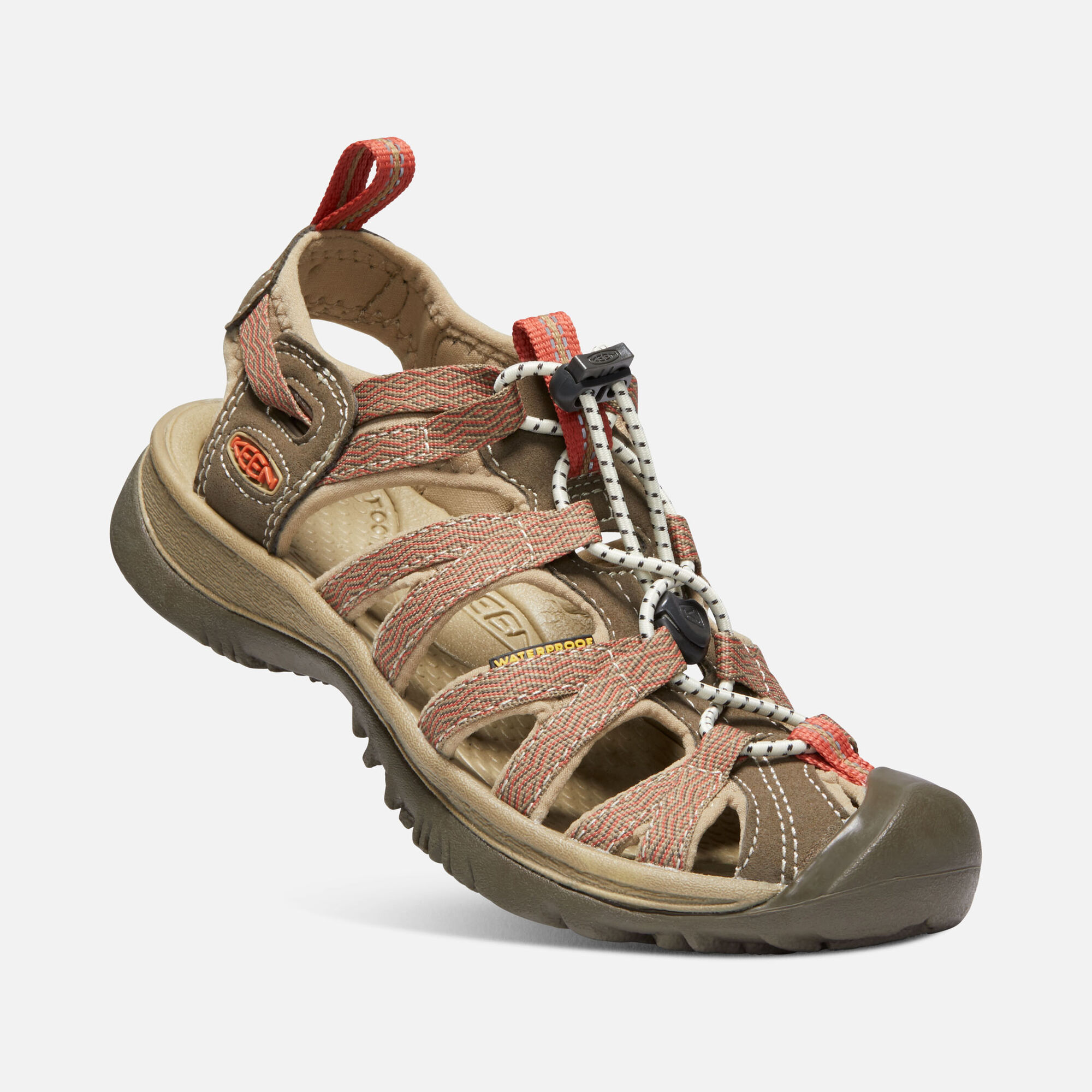 Womens Whisper Keen Footwear Inside Heels Karen Khaky 37 In Canteen Langoustino Small View