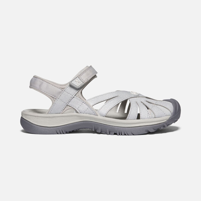 Women's Rose Sandal in Light Gray/Silver - large view.