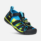Older Kids' Seacamp II Cnx Sandals in Black/Brilliant Blue - small view.