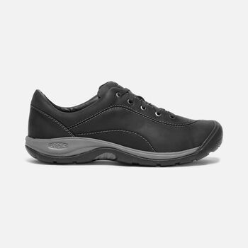 WOMEN'S PRESIDIO II LEATHER SHOES in BLACK/STEEL GREY - large view.