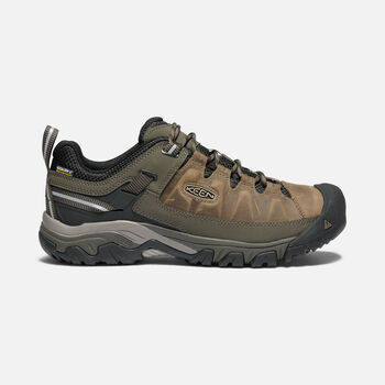 MEN'S TARGHEE III WATERPROOF WIDE HIKING SHOES in BUNGEE CORD/BLACK - large view.
