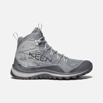 Women's Terradora Evo Mid Hiking Boots in FROST GREY/PALOMA - large view.