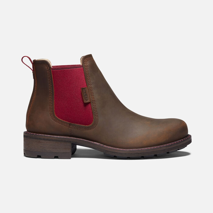 Women's Oregon City Chelsea Casual Boots in Snuff/Tibetan Red - large view.