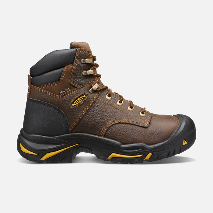 """Men's Mt Vernon 6"""" Waterproof Boot (Soft Toe) in Cascade Brown - large view."""