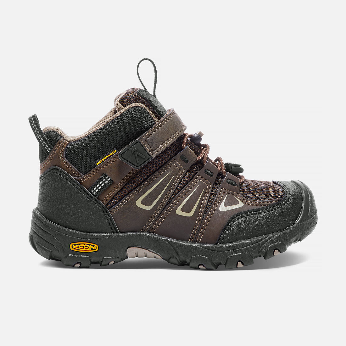 Little Kids' Oakridge Waterproof Mid in Cascade Brown/Brindle - large view.