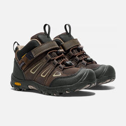 Little Kids' Oakridge Waterproof Mid in Cascade Brown/Brindle - small view.
