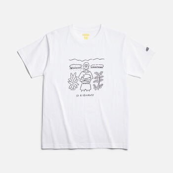 KEEN Iriomote T-Shirt PROTECT in WHITE - large view.