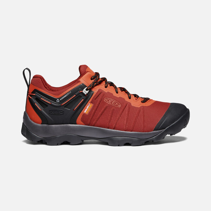 Men's Venture Waterproof Hiking Shoes in Fired Brick/Burnt Ochre - large view.
