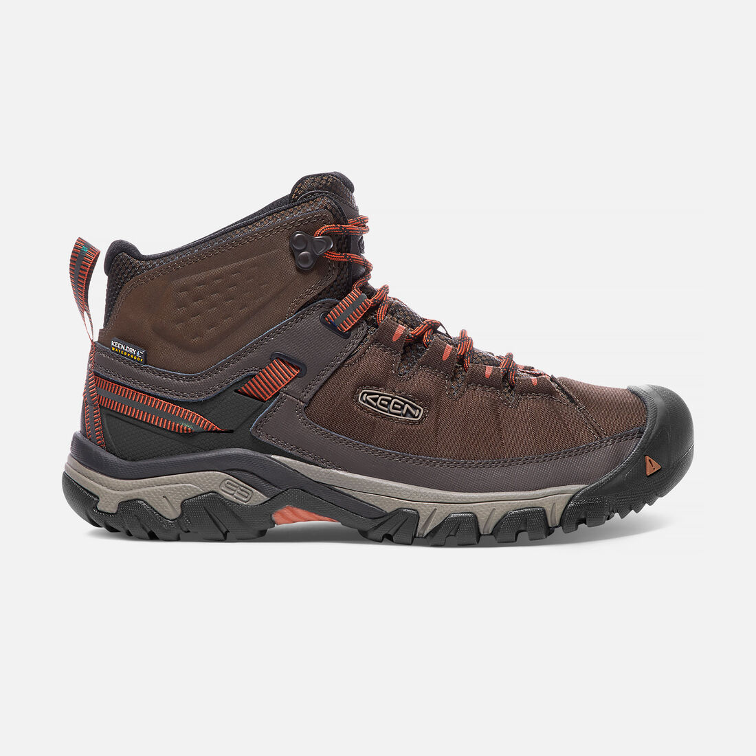 Men's TARGHEE EXP Waterproof Mid in Mulch/Burnt Ochre - large view.