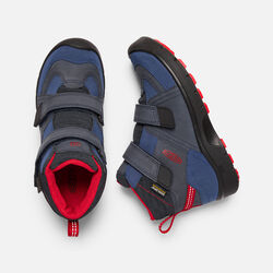 Big Kids' HIKEPORT STRAP Waterproof Mid in Dress Blues/Blue Nights - small view.