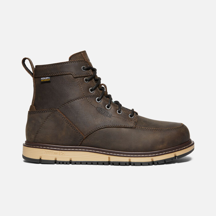 "Men's CSA San Jose 6"" Waterproof Boot (Aluminum Toe)  in CASCADE BROWN/BLACK - large view."