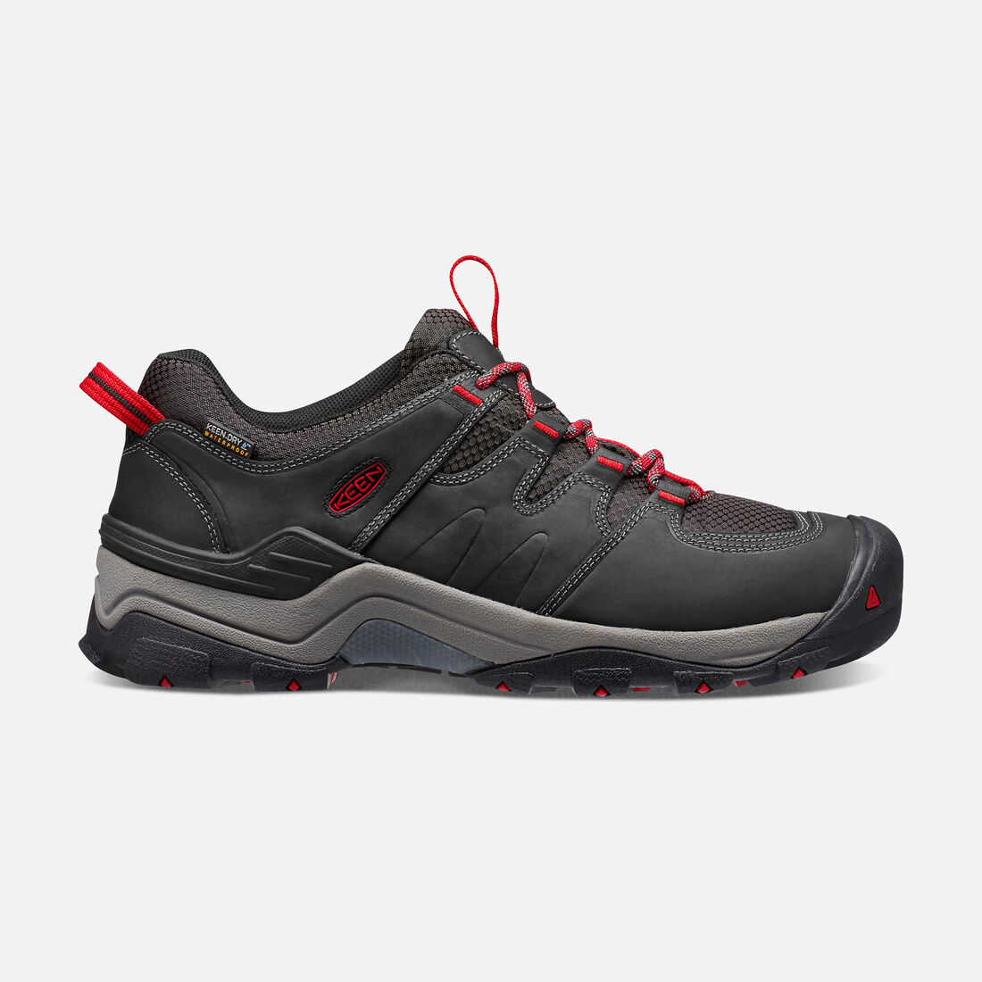 MEN'S GYPSUM II WATERPROOF  HIKING SHOES in Black/Tango - large view.