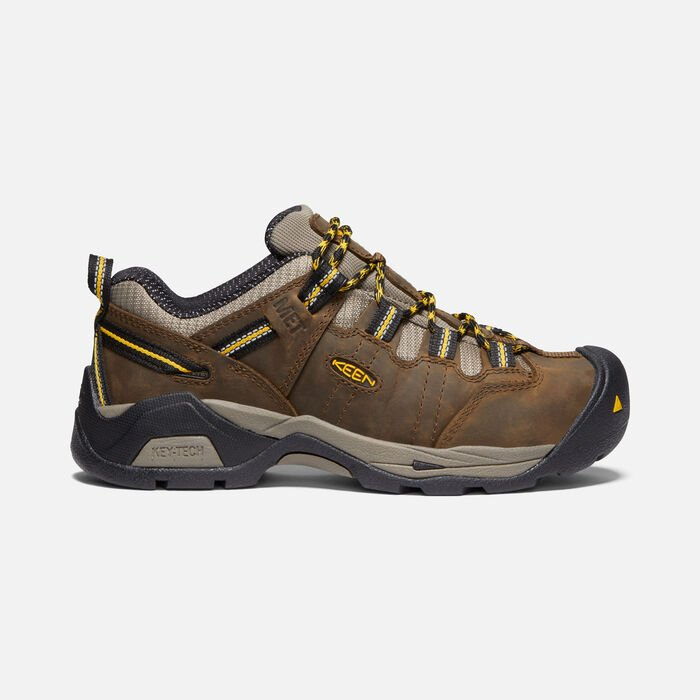 Women's Detroit XT Internal Met (Steel Toe) in CASCADE BROWN/GOLDENROD - large view.