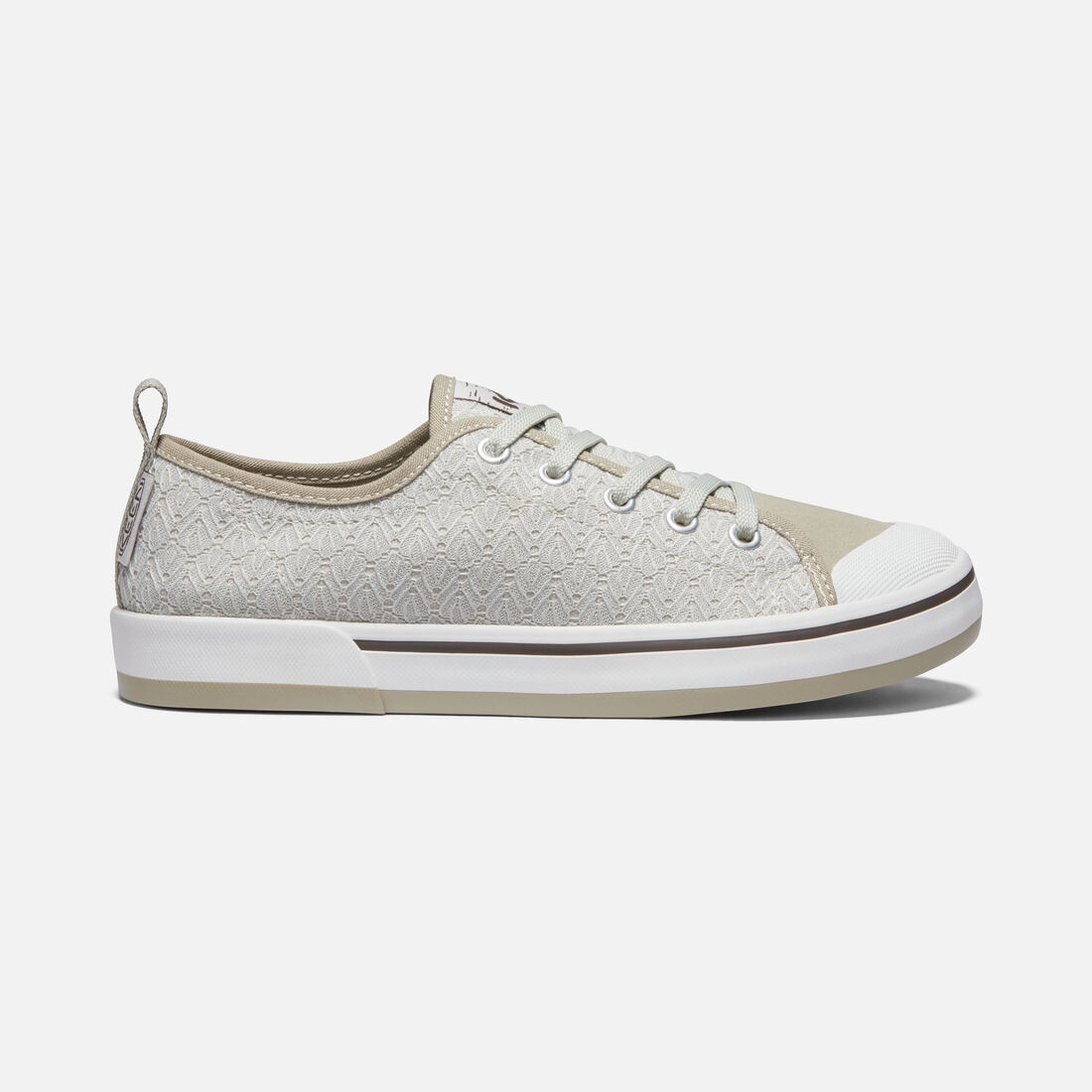 Women's ELSA II CROCHET SNEAKER in SILVER BIRCH/CANTEEN - large view.