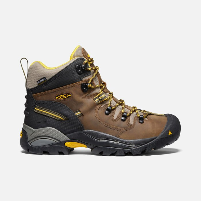 "Men's Pittsburgh 6"" Boot (Steel Toe) in Slate Black - large view."