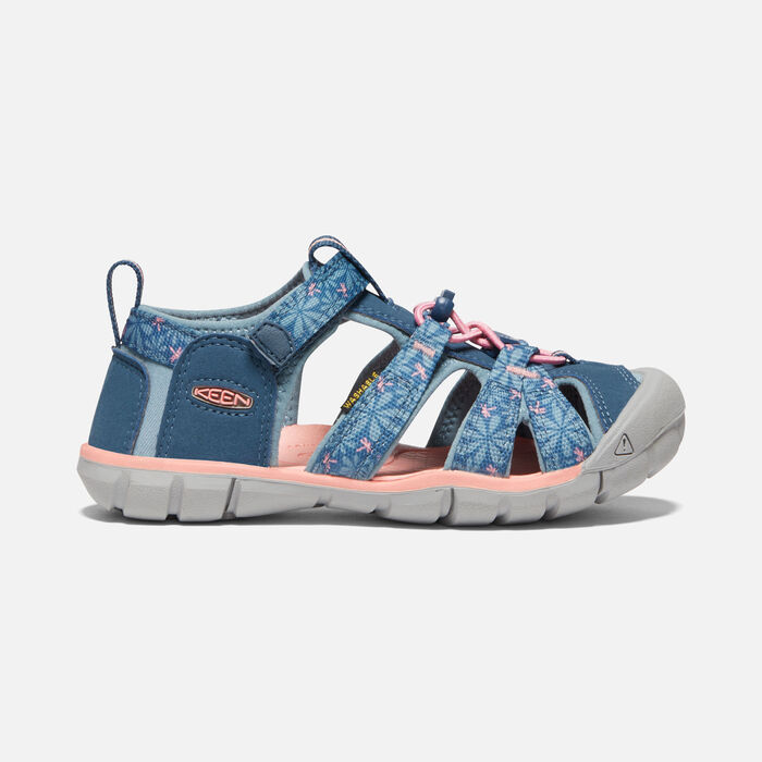 Older Kids' Seacamp II Cnx Sandals in Real Teal/Stone Blue - large view.